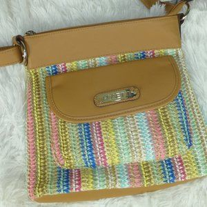 Rosetti Pastel Stripes Crossbody Shoulder Bag, NWT
